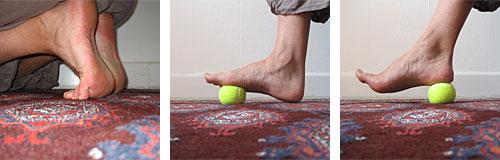 tryck under foten