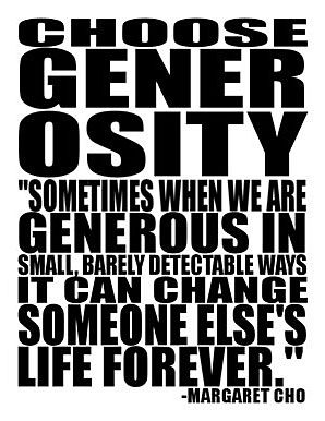choosegenerosity